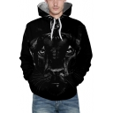 Digital Panther Printed Long Sleeve Unisex Hoodie with Pocket