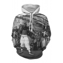 3D Digital Fashion Character Printed Long Sleeve Oversize Hoodie
