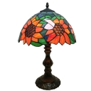 Tiffany Vintage 11.81''W Table Lamp with Sunflower Glass Shade 3 Designs Available