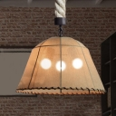 LED Chandelier Dome Marble Shade 3 Light in Vintage Style