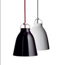 Industrial 7.87''W Pedant Light with Dome Metal Shade in Nordical Style, Black/White