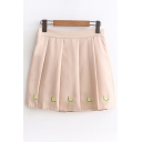 Popular Watermelon Slice Embroidery Mini Pleated Skirt with Shorts