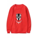 Chic Mask Monster Pattern Round Neck Long Sleeves Pullover Sweatshirt