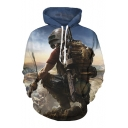 Popular Game Character Printed Long Sleeve Leisure Oversize Hoodie