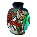 New Trendy Digital Character Printed Long Sleeve Leisure Hoodie