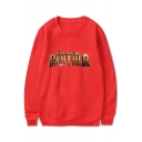 Hot Stylish Letter Pattern Round Neck Long Sleeves Pullover Sweatshirt