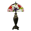 Butterfly Table Lamp Tiffany-Style Stained Glass 16