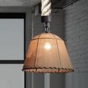 Vintage Style 1 Light Rope Marble Shade LED Pendant Lighting