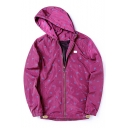 Cool Swallow Allover Print Long Sleeves Zippered Hooded Sun Coat