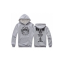 Fashionable Letter Graphic Print Long Sleeves Pullover Hoodie with Pocket