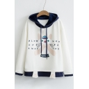 New Arrival Lovely Cat Letter Printed Long Sleeve Leisure Hoodie