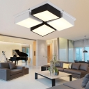 Cube Shape Ceiling Light Popular Acrylic, 4 Lights