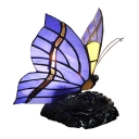 Blue Butterfly Table Lamp with Tiffany Stained Glass, 1-Light, 10