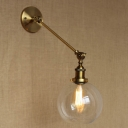 7'' Wide Single Light Industrial Adjustable LED Wall Sconce in Gold Finish