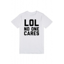 Summer New Collection Round Neck Letter Printed Short Sleeve Tee