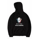 Trendy Graphic Letter Print Long Sleeves Pullover Hoodie with Pocket