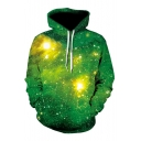 Cool Street Fashion Galaxy Print Long Sleeves Pullover Hoodie