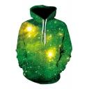 Cool Street Fashion Galaxy Print Long Sleeves Pullover Hoodie