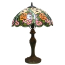 Floral Theme Glass Shade Tiffany 15.75