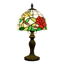 Multi-Colored Glass Lampshade Floral Dome Design, 14