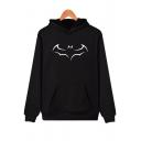 Pop Fashion Bat Pattern Long Sleeves Pullover Pocket Hoodie
