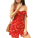 Retro Peasant Printed Straps Sleeveless Single Breasted Slim Mini Cami Dress
