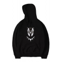 Popular Monster Mask Pattern Long Sleeves Pullover Hoodie with Pocket