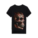 Cool Stylish Skull Print Round Neck Short Sleeves Casual Tee