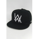 Simple Letter W Embroidered Outdoor Chic Baseball Cap Hat