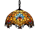 Baroque 2 Light Pendant Light with Tiffany 16