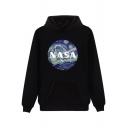 New Arrival Chic NASA Painting Printed Long Sleeve Leisure Loose Hoodie