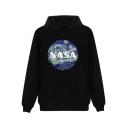 New Arrival Chic NASA Painting Printed Long Sleeve Leisure Loose Hoodie