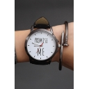 Retro Simple Letter Pattern Watch for Couple