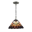 Loft Conical Glass Shade Pendant Light with 12