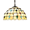 Dome Glass Shade with Jewels 2-Light 16