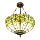 Floral Theme Bowl Shaped Pendant Light with 18