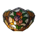 12-inch Vintage Tiffany Foral Wall Lamp Hallway Wall Sconce