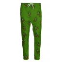 Funny Meme Frog Cartoon Print Drawstring Waist Leisure Outdoor Pants