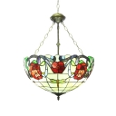 Tiffany 3/5-Light Chandelier in Baroque Style with 16