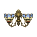 Tiffany Wall Sconce Baroque Style with 16