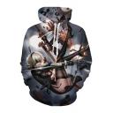 Cartoon Game NieR Girl Printed Leisure Long Sleeve Hoodie with Pocket