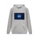Hot Popular NASA Starry Pattern Printed Long Sleeve Leisure Hoodie