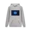 Hot Popular NASA Starry Pattern Printed Long Sleeve Leisure Hoodie