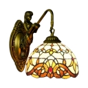Dome Design with Belle Colorful Glass Shade, 8