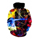 Colorful Splash Ink Long Sleeve Unisex Hoodie