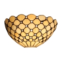 Tiffany Style 1-light Jeweled Hallway Wall Sconce