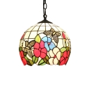 Globe Pendant Tiffany Ceiling Light, 12