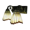 Tiffany-Style Stained Glass Wall Sconce Down Lighting Fixture,2 Light 16