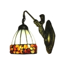 Single Light Tiffany Style Belle Wall Sconce with Colorful Glass Shade 6
