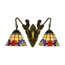 Vintage Wall Sconce Stained Glass Sconce Lighting,18